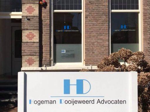 HD Advocaten zichtbaar vanaf de straat