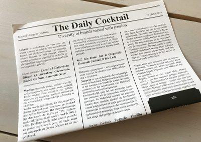 The Daily Cocktail – Hele bijzondere menukaarten