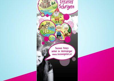 Opvallende banner voor creatief leren schrijven