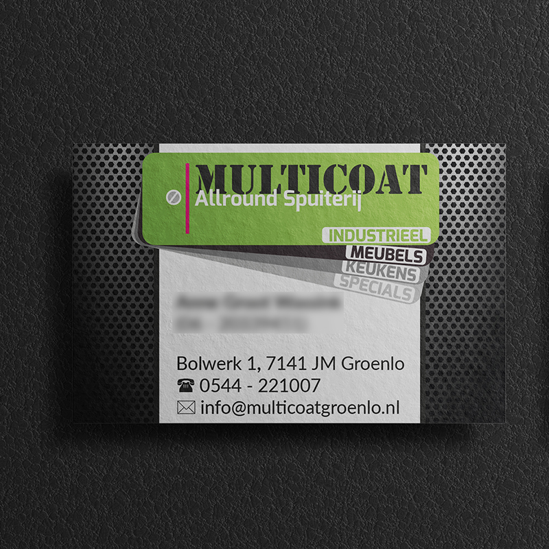 Nieuwe luxe visitekaartjes Multicoat