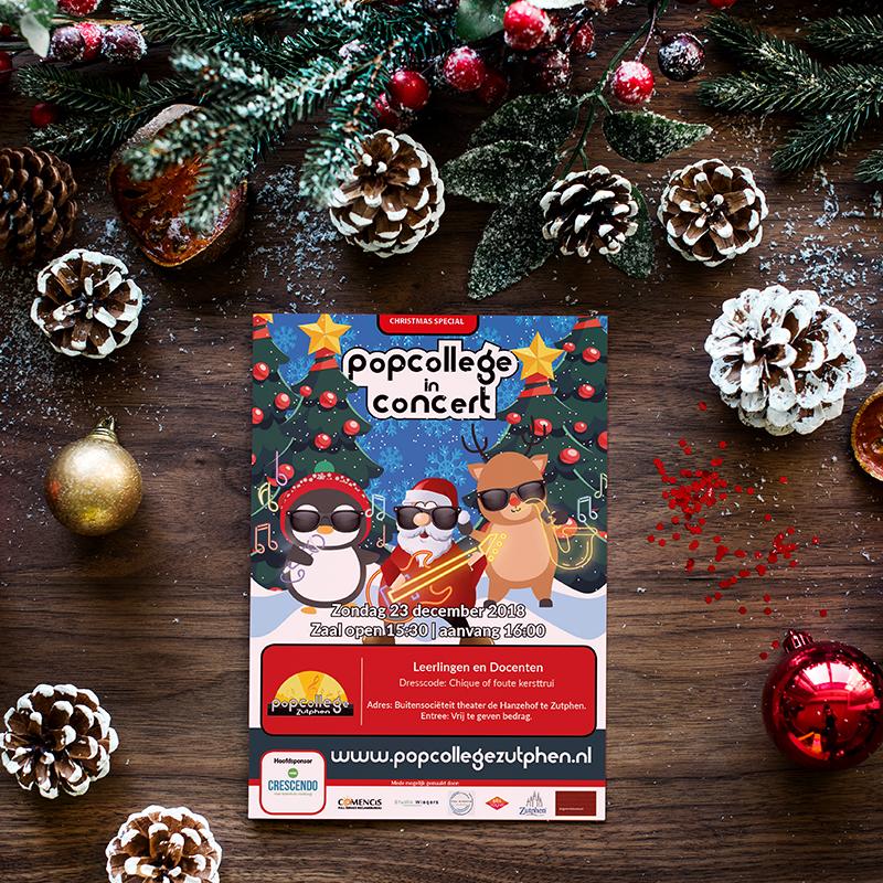 Kerstconcert Popcollege Zutphen 2018